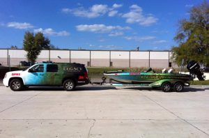 matching boat and SUV wrap