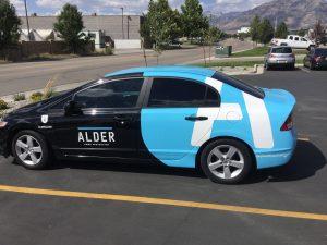 New York City Car Wraps partial car wrap vehicle graphics lettering vinyl 300x225