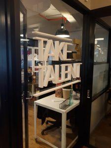 custom lobby dimensional lettering